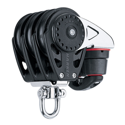 75 mm Triple Block — Swivel, Cam Cleat (No.2668) Harken